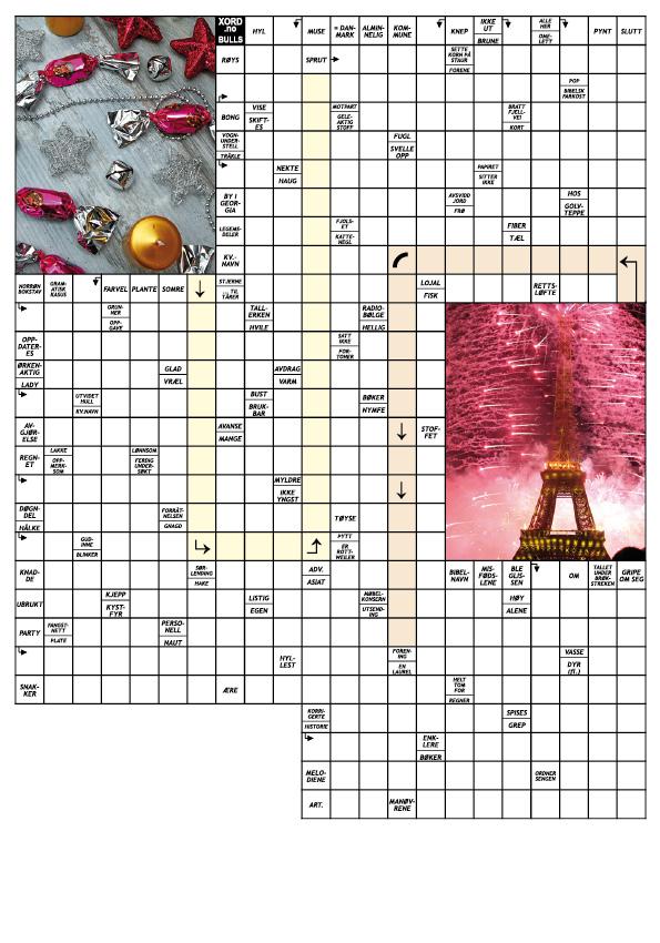 Nyttårskryssord enkel tab 20