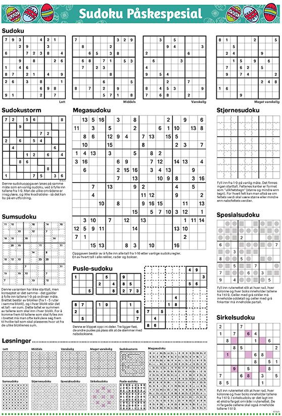 Sudoku Påskespesial 21